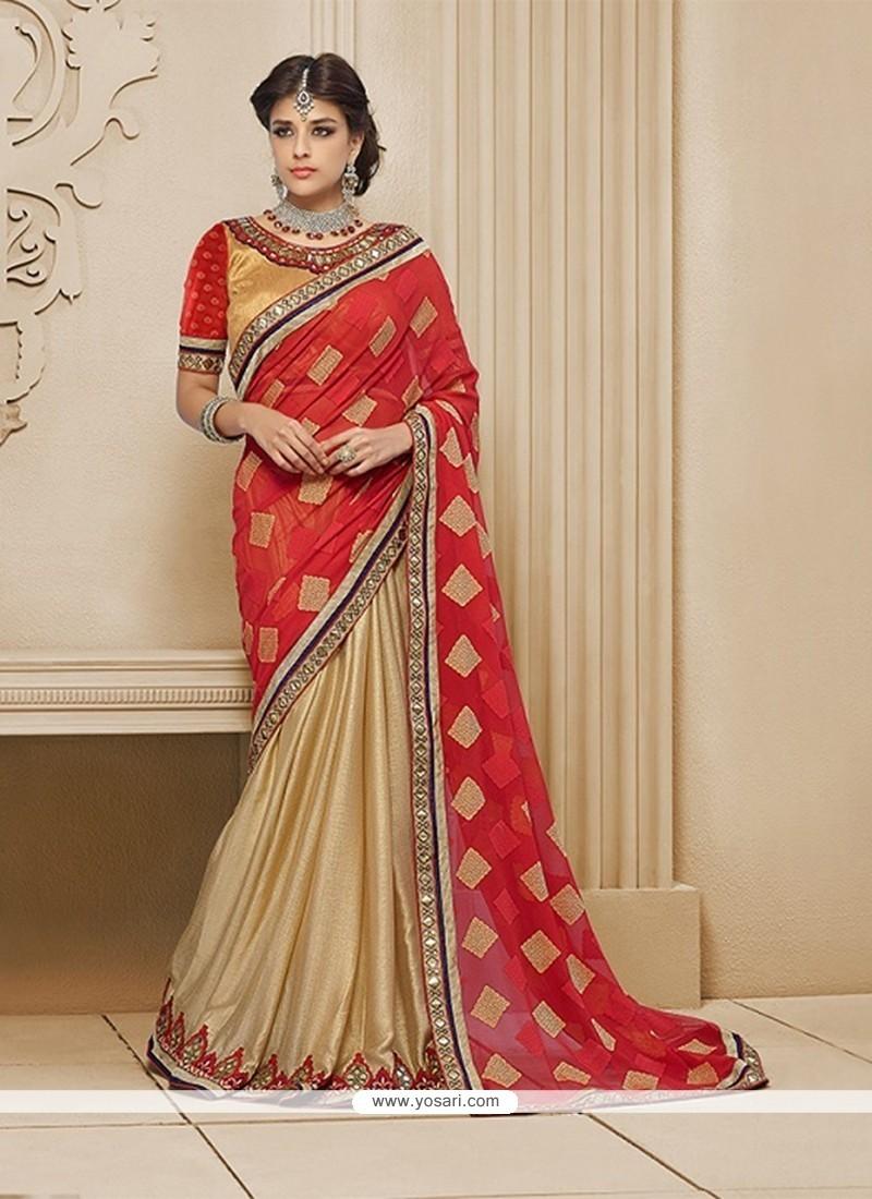 Festal Embroidered Work Classic Designer Saree