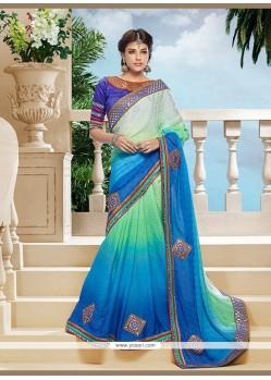 Jazzy Blue Jacquard Classic Designer Saree
