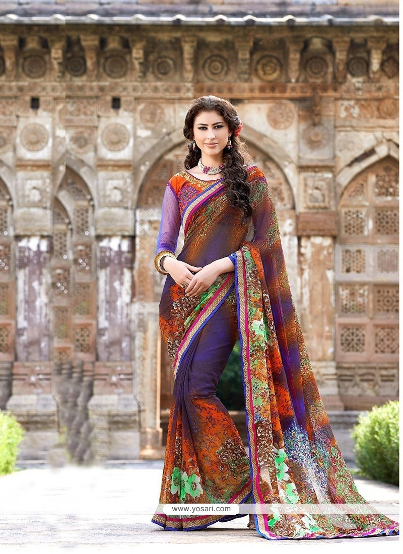 Magical Multicolor Printed Casual Saree