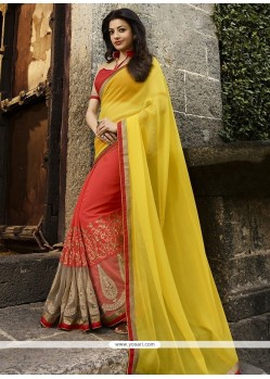 Blissful Embroidered Work Georgette Classic Designer Saree