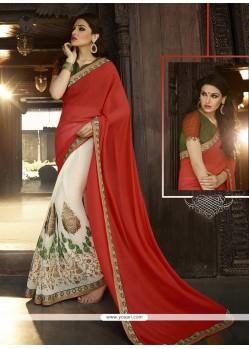 Stylish Red Classic Designer Saree
