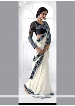 Aristocratic Patch Border Work Classic Designer Saree