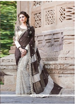 Groovy Black Printed Saree