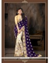 Stylish Georgette Designer Half N Half Saree