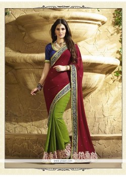 Royal Georgette Patch Border Work Classic Designer Saree