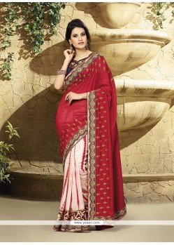 Imperial Red Georgette Classic Designer Saree