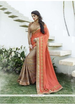 Deserving Orange Classic Designer Saree