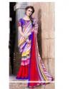 Multicolor Pure Chiffon Party Wear Saree