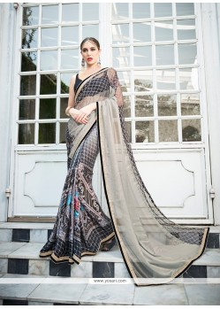 Celestial Embroidered Work Classic Designer Saree