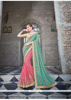 Modish Pink Classic Designer Saree