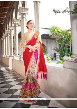 Outstanding Multi Colour Georgette Classic Designer Saree