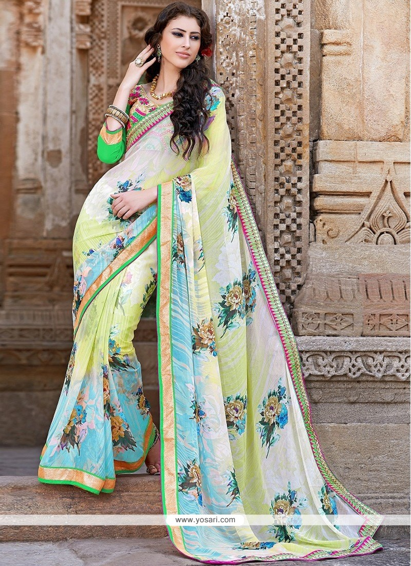 Multicolor Georgette Party Wear Saree