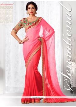 Intrinsic Pink Designer Saree