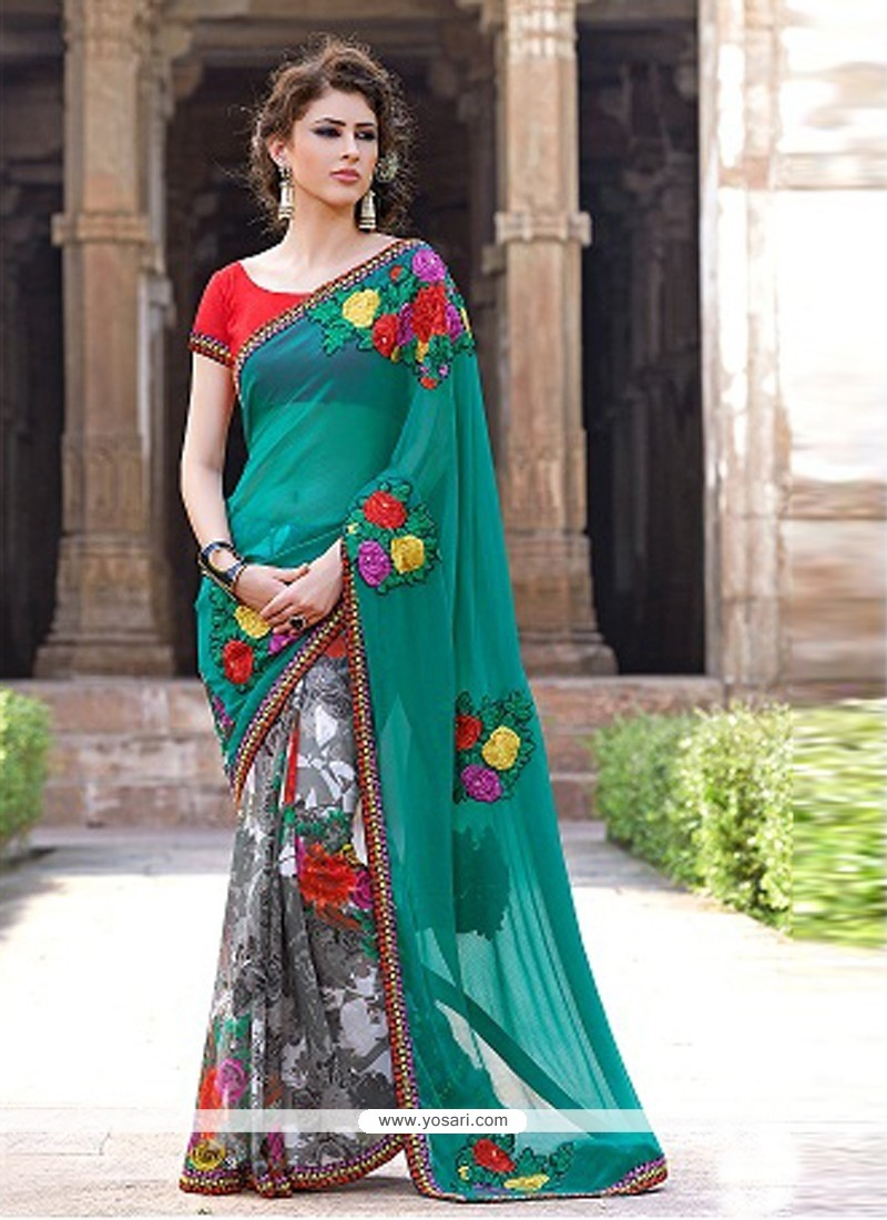 Multicolor Printed Casual Saree