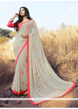 Glamorous Georgette Beige Casual Saree