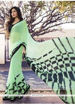 Fine Georgette Green Casual Saree