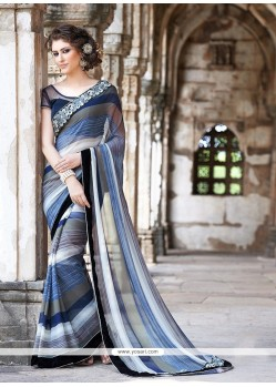 Girlish Multicolor Printed Saree