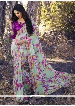 Delightsome Georgette Multi Colour Casual Saree
