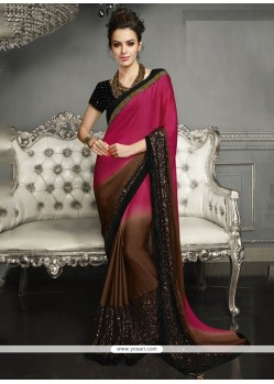 Sophisticated Embroidered Work Classic Designer Saree