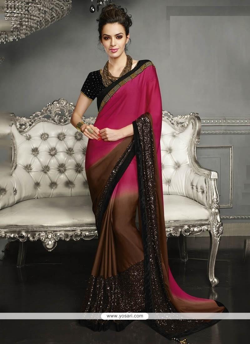 Sophisticated Embroidered Work Classic Designer Saree