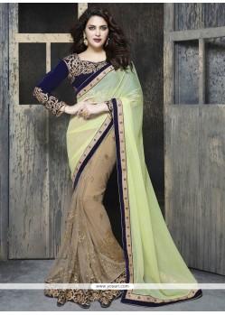 Dazzling Beige Classic Designer Saree