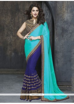 Fetching Blue Art Silk Classic Designer Saree