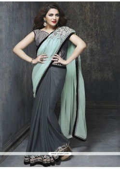 Vibrant Embroidered Work Art Silk Classic Designer Saree