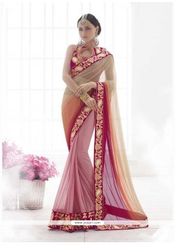 Titillating Embroidered Work Classic Designer Saree