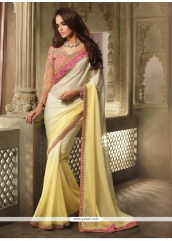 Enticing Shimmer Georgette Classic Designer Saree