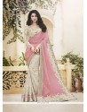 Divine Faux Chiffon Pink Classic Designer Saree