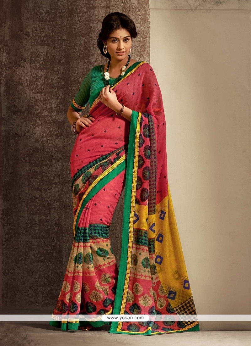 Breathtaking Pink Cotton Silk Casual Saree