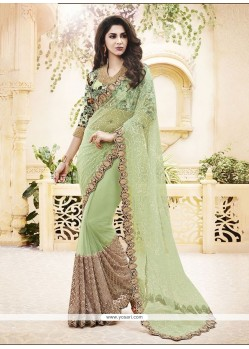 Stupendous Net Embroidered Work Classic Designer Saree