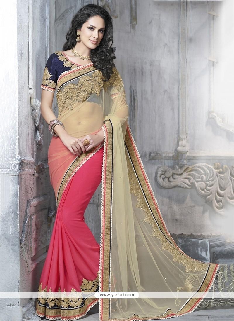 Fascinating Pink Classic Designer Saree
