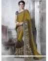 Voluptuous Georgette Patch Border Work Classic Designer Saree