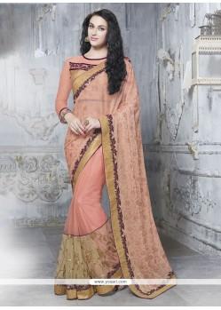 Spellbinding Pink Lycra Classic Designer Saree