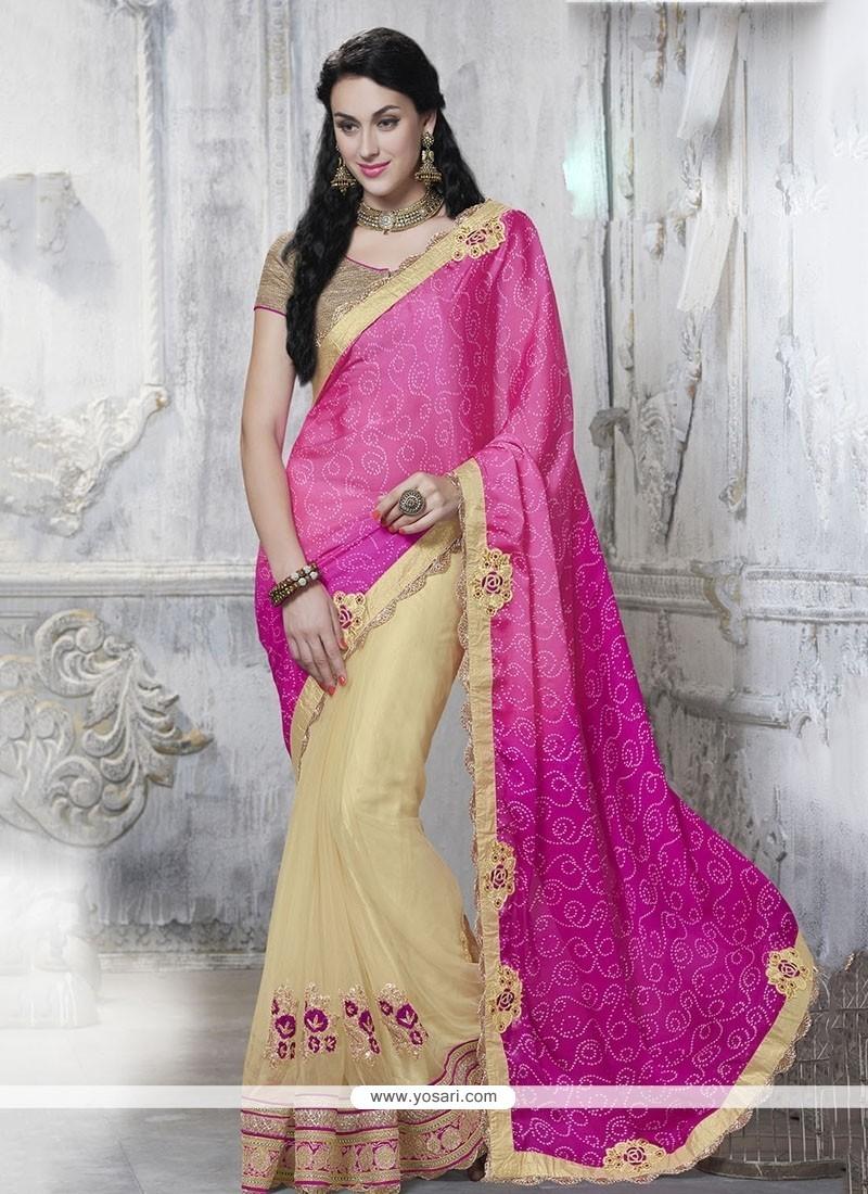Dilettante Hot Pink Classic Designer Saree