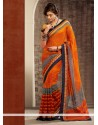 Blooming Orange Cotton Silk Saree