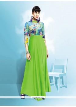 Floral Green Anarkali Salwar Kameez