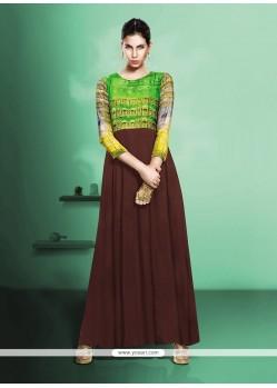 Splendid Brown Anarkali Salwar Kameez