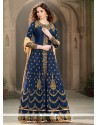 Chic Blue Designer Floor Length Suit