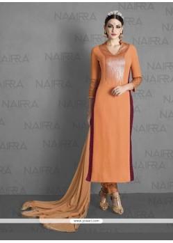 Gilded Embroidered Work Georgette Designer Suit