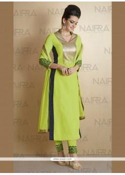 Aristocratic Georgette Sequins Work Designer Suit