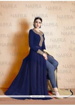Heavenly Navy Blue Designer Suit