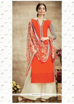 Lovely Orange Designer Suit