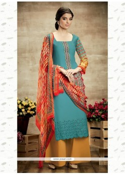 Delightsome Cotton Print Work Designer Suit