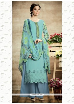 Glorious Print Work Cotton Designer Suit