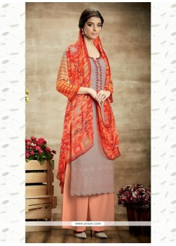 Eye-catchy Cotton Print Work Designer Suit