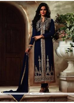 Astounding Blue Georgette Suit