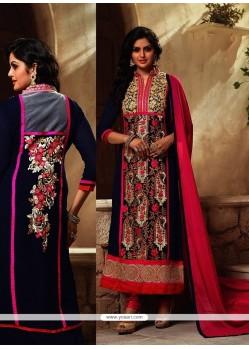 Adorable Resham Work Georgette Designer Suit