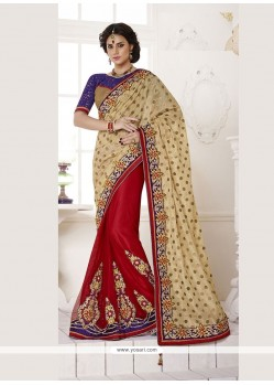 Adorable Bhagalpuri Silk Red Classic Designer Saree
